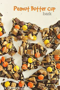 Peanut Butter Cup Bark on SixSistersStuff.com - an easy recipe that can be…