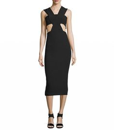 Cushnie et Ochs Sleeveless Cutout Midi Dress