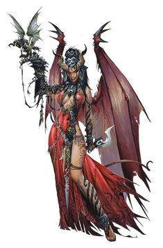 Tiefling Female Spellcaster Arcane Sorcerer Wizard rogue familiar Witch Dagger Sexy wings tattoo Light