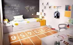 habitación infantil Kids Bedroom, Toddler Bed, Kids Rugs, Furniture, Home Decor, Rooms, Kids Rooms, Furniture Catalog, Modern Lounge