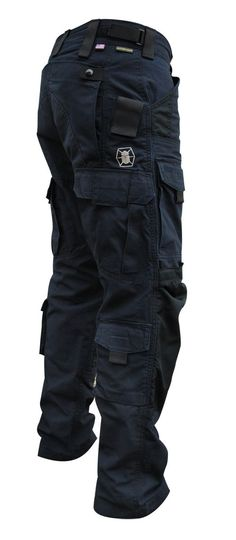 I like pockets, they're useful. Nomenclature said black pants- these are blue... Dark blue... Navy.