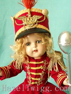 Ruth's Cork Board » Now Dasher! Now Dancer! Majorie the Majorette vintage composition doll.
