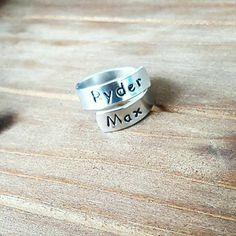 Wrap rings are perfect if you in between ring sizes...you mold them to fit your own finger!  custom wrap ring by DreamWillowStudio on Etsy