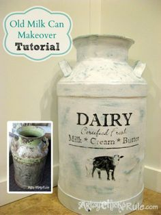 "Remember this milk can? I had it in my post ""Thrifty Finds"" awhile bac…"