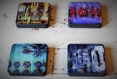 New coasters with my art. #coasters #art #kelliebecker