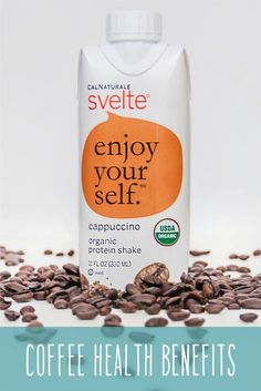 Drinking coffee has tons of surprising health benefits! Check out a few and then try a delicious Svelte Cappuccino – made from 100% organic coffee. #coffee