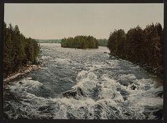 [The rapids toward the pavillion, Imatra, Russia,(i.e., Finland)], ca 1890-1900