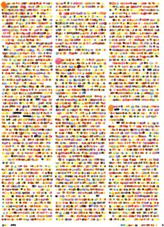 Vanity Fair by Lauren DiCioccio color assigned to every letter in the alphabet (grayscale dots of paint applied over every character, result is blur of dots Textile Patterns, Print Patterns, Textiles, Dotted Drawings, Alphabet And Numbers, Illustrations, Vanity Fair, Moleskine, Pattern Design