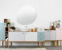 La firma italiana Ex.t #bath #bathroom #sdb #mobilier #furniture #interior #design