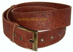 Cork Belt (model RC-GL0104001021) - Eco-friendly - made of real cork. From www.corkfashion.com