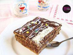 Tarta de chocolate y galletas - Dulcespostres.com