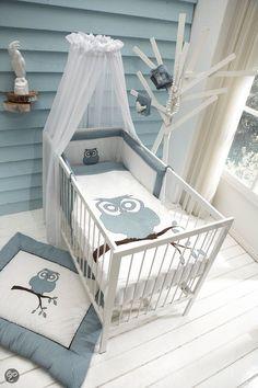 Chambre bébé bleu et gris  pour bébé garçon!