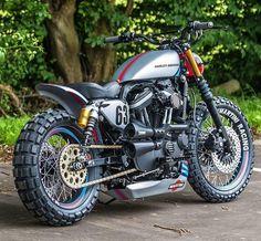 Nice+Harley+Racing+Style #harleydavidsonsporster