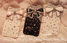 iPhone 4 Case, iPhone 4s Case, iPhone Case, iPhone hard Case,iphone 4 skin, cute iphone 4 case bling bowknot. $13.98, via Etsy.