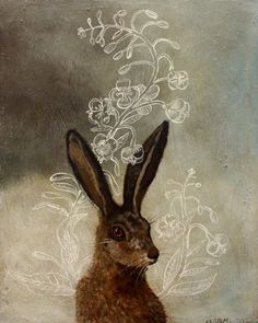Sloe Gin Fizz posted this great inspiration art by Anne Siems Art And Illustration, Gravure Illustration, Illustrations, Lapin Art, Street Art, Rabbit Art, Jack Rabbit, Bunny Art, You Draw