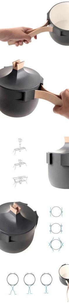 By Hungarian designer Levai Levente - the TRU cooking vessel, a pot that is 'true' to both its heritage and to modernity.
