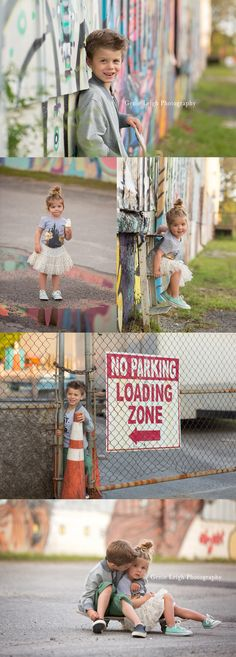 Genie Leigh Photography Skater Girl Photoshoot Sibling Grafitti wall