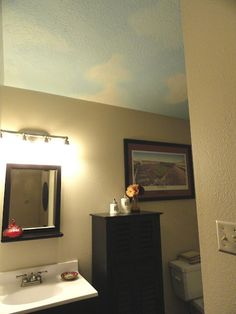 how to paint a cloud ceiling