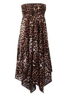 leopard print wedding dress | Leopard Print Smocked Dress - BHS