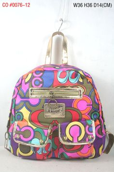 Coach C Signature Multi Pocket Backpack Multicolor