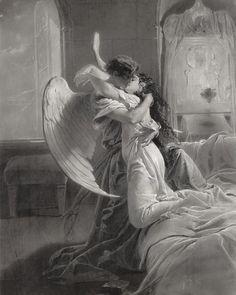 Renaissance Kunst, Renaissance Paintings, Romantic Paintings, Old Paintings, Romantic Artwork, Romantic Drawing, Angel Aesthetic, Aesthetic Art, Classical Art