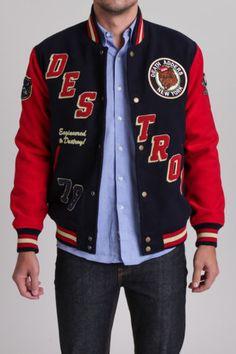 8397afc7d22 Mishka Retro Destory Varsity Jacket