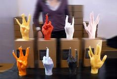 Vivid gestures can not bear candle lit art - candles, hand gestures - Gifts & Crafts Industry - Use Alginate for mold and candle wax to cast.