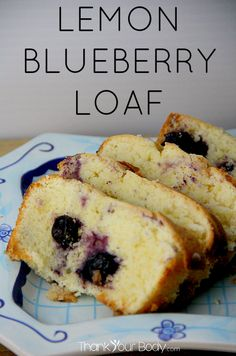 Try this delicious lemon blueberry loaf! Easy to make gluten free.