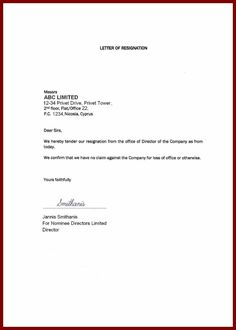 resignation letter from swot template free download general ...