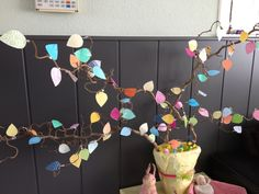 Paastakken versierd met blaadjes #DIY