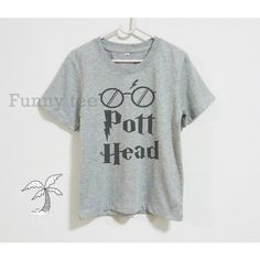 Pott Head shirt kids toddlers boys girls clothes Harry Potter**grey... (12 CAD) ❤ liked on Polyvore featuring tops