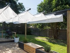 Image result for deck shade made with metal pipe