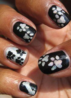 Karine's Vernis Club: Paws and bones nail art (pics heavy)