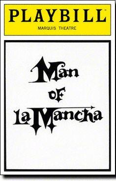 Man of La Mancha Playbill - Opening Night, April 1992 Man Of La Mancha, Opening Night, Theatre, Musicals, Theater, Musical Theatre