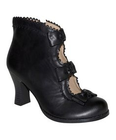 Look what I found on #zulily! Black Cutout Victoria Boot by DOLCE by Mojo Moxy #zulilyfinds