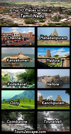 10 Best Places in Tamil Nadu - Tours 2 Escape Amazing Places On Earth, Beautiful Places To Travel, Best Places To Travel, Cool Places To Visit, Wonderful Places, Travel Tours, Travel And Tourism, Travel List, Travel Advise