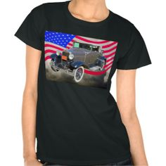 1930 Model A Ford  And American Flag Shirts