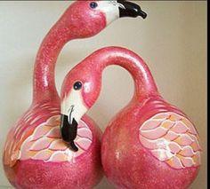 Swan Gourds (flamingos?)
