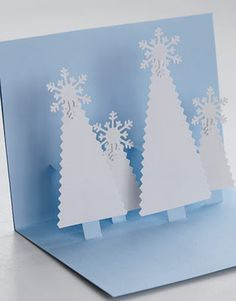 Pop Up Card - Christmas Woodland Diorama!