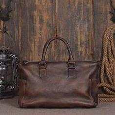 Handmade Full Grain Cowhide Leather Women Tote Bags