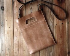 Leather tote bag. Multipurpose leather bag. Sand color. Bags and purses. Distressed leather handbag. Use like a clutch or shoulder bag LB025