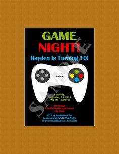 Video Games Birthday Invitation Video Game Birthday Party - Birthday party invitation videos