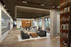 Unique Industrial Interior Design Office With Commercial Interior ...