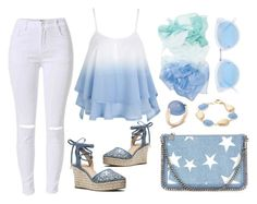 """""""summer blues...."""" by irene-loves-shoes-xo ❤ liked on Polyvore featuring MICHAEL Michael Kors, STELLA McCARTNEY, Pomellato, Rivka Friedman and RetroSuperFuture"""