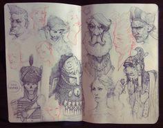 ArtStation - Sketchbook practice compilation, Iosu Palacios