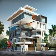 A great ultra modern bungalow design gives a complete new style statement to your dream project. Modern Bungalow Exterior, Modern Exterior House Designs, Modern House Facades, Bungalow House Design, House Front Design, Modern House Design, Exterior Design, Architecture Building Design, Modern Architecture