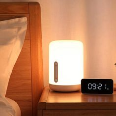 Xiaomi Mijia Bedside Lamp 2 Smart Table LED Night Light Colorful 400 Lumens Bluetooth WiFi Touch Control for Apple HomeKit Siri Bedside Lighting, Bedside Lamp, Desk Lamp, Table Lamp, Table Desk, Bluetooth, Kit Homes, Apple Homekit, Coupon