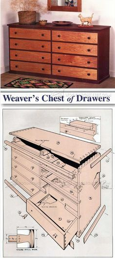 Weavers Chest of Drawers Plans - Furniture Plans and Projects | WoodArchivist.com