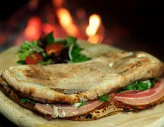 Sandwich-like Pizza.  Panuozzo at San Matteo Panuozzo