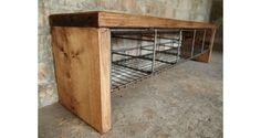 vintage locker room bench